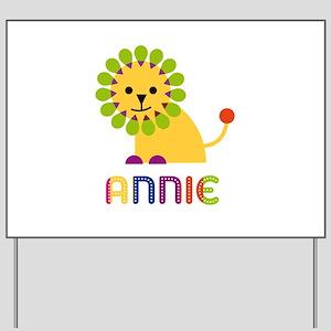 Annie the Lion Yard Sign