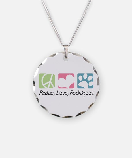 Peace, Love, Peekapoos Necklace