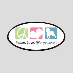 Peace, Love, Affenpinschers Patches