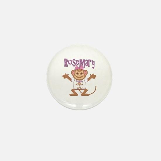 Little Monkey Rosemary Mini Button