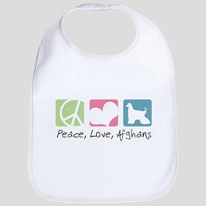 Peace, Love, Afghans Bib