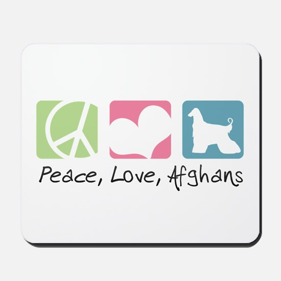 Peace, Love, Afghans Mousepad