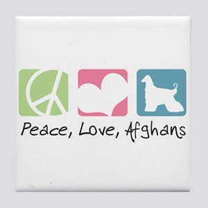 Peace, Love, Afghans Tile Coaster