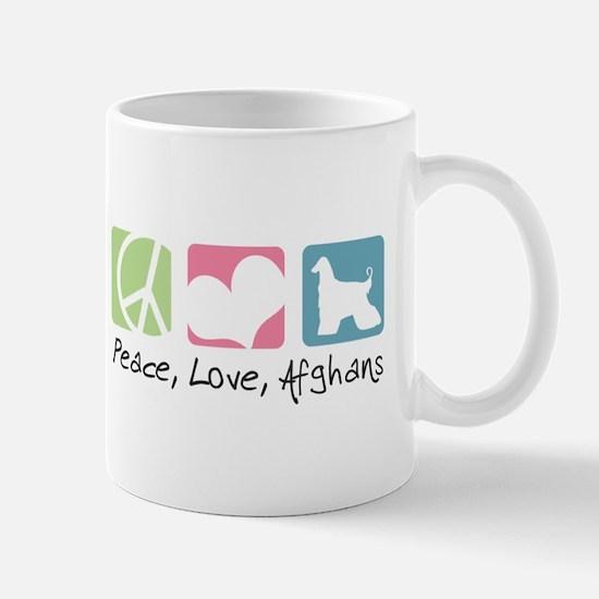Peace, Love, Afghans Mug