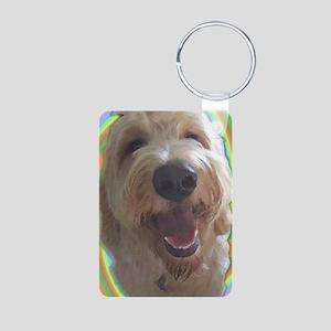Dreamy Dog Aluminum Photo Keychain