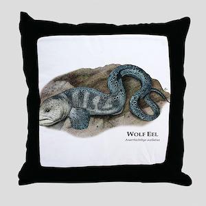 Wolf Eel Throw Pillow