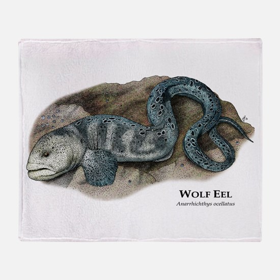 Wolf Eel Throw Blanket
