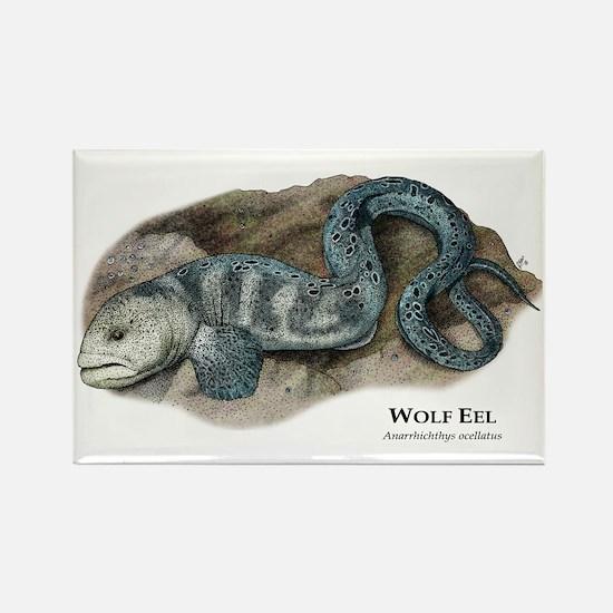Wolf Eel Rectangle Magnet