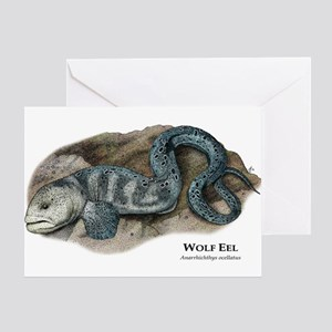 Wolf Eel Greeting Card