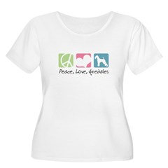 Peace, Love, Airedales T-Shirt