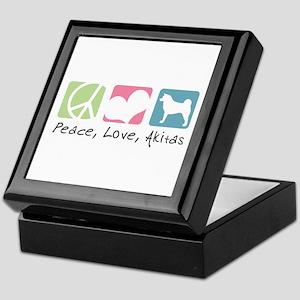 Peace, Love, Akitas Keepsake Box