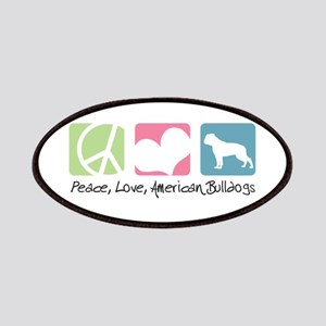 Peace, Love, American Bulldogs Patches