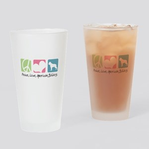 Peace, Love, American Bulldogs Drinking Glass