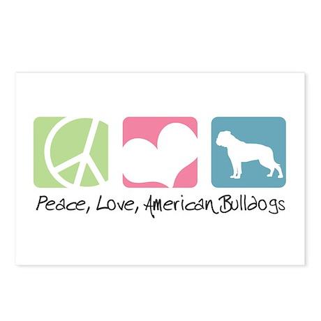 Peace, Love, American Bulldogs Postcards (Package