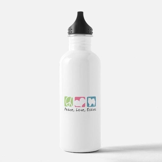 Peace, Love, Eskies Sports Water Bottle