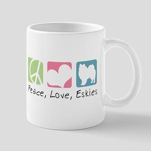 Peace, Love, Eskies Mug