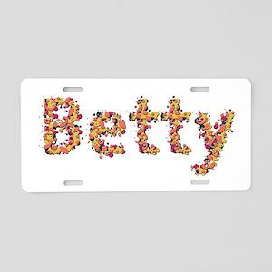 Betty Fiesta Aluminum License Plate