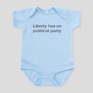 Liberty has no Political Part Infant Bodysuit