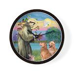 St Francis - 2 Goldens Wall Clock