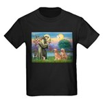 St Francis - 2 Goldens Kids Dark T-Shirt