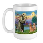 St Francis - 2 Goldens Large Mug