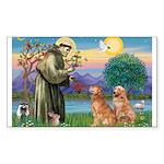 St Francis - 2 Goldens Sticker (Rectangle)