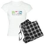Peace, Love, AmStaffs Women's Light Pajamas