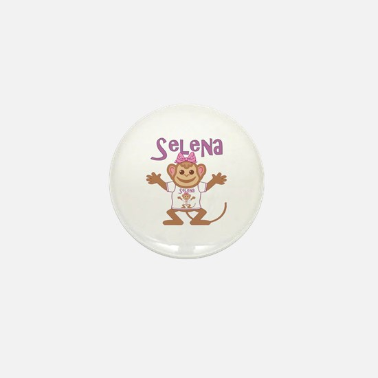Little Monkey Selena Mini Button