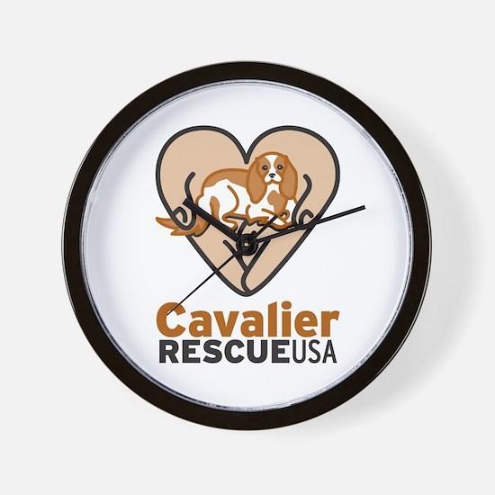 Cavalier Rescue USA Logo Wall Clock