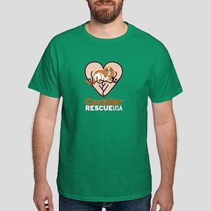 Cavalier Rescue USA Logo Dark T-Shirt