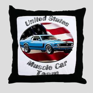 Ford Mustang Boss 302 Throw Pillow