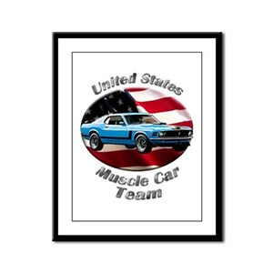 Ford Mustang Boss 302 Framed Panel Print