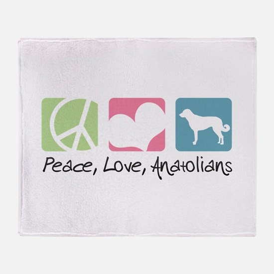 Peace, Love, Anatolians Throw Blanket