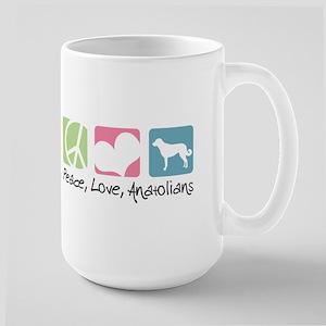 Peace, Love, Anatolians Large Mug