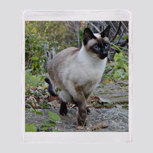 Siamese Cat Throw Blanket
