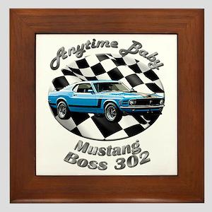 Ford Mustang Boss 302 Framed Tile