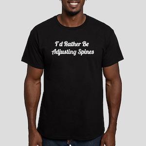 Adjusting Spines Men's Fitted T-Shirt (dark)