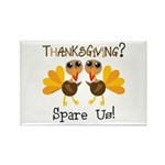 Vegan Thanksgiving Rectangle Magnet (100 pack)