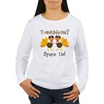 Vegan Thanksgiving Women's Long Sleeve T-Shirt