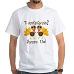 Vegan Thanksgiving White T-Shirt