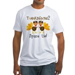 Vegan Thanksgiving Fitted T-Shirt