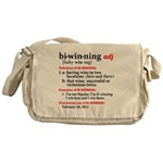 Bi-Winning Definition Messenger Bag