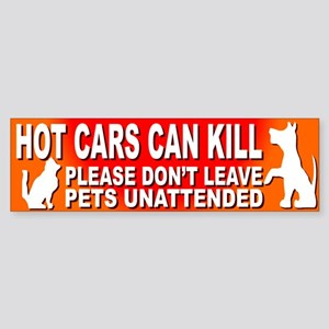 Hot Cars KILL Pets! - Bumper Sticker