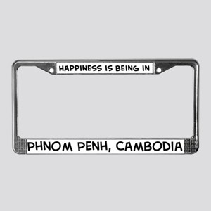 Happiness is Phnom Penh License Plate Frame