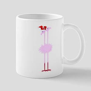 Two Christmas Flamingos Mug