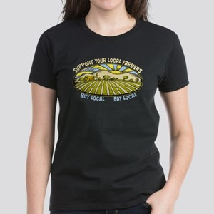 Support Your Local Farmers Women's Dark T-Shirt