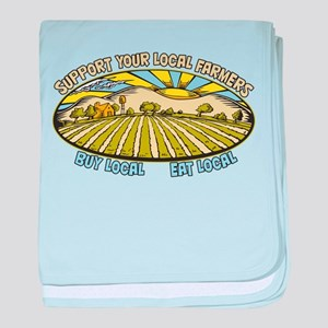 Support Your Local Farmers baby blanket