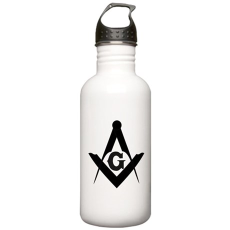 Outline Square and Compass Stainless Water Bottle