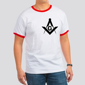 Outline Square and Compass Ringer T
