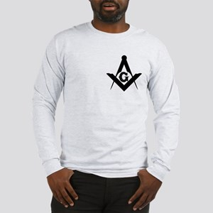 Outline Square and Compass Long Sleeve T-Shirt